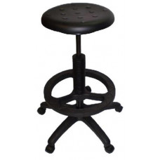 Polyurethane Round Lab Stool Drafting