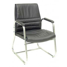Diamond Leather Visitor chair with arms